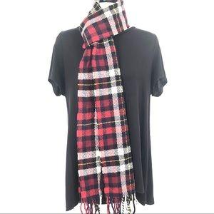 RALPH LAUREN Wool/Cashmere Fringed Unisex Scarf